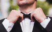 свадебный галстук-бабочку — Стоковое фото