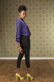 African american female in fashion — Stock Photo