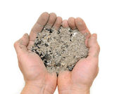 Handful ashes — Stock Photo