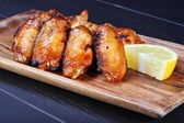 Grilled chicken wings — Stock Photo