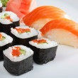 Set of sushi and rolls — Stock Photo