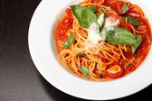 Freshly cooked plate of spaghetti — Stock Photo