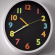 White wall clock in the form of a ellipse — Stock Photo