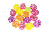 Colorful spiral jelly — Stock Photo