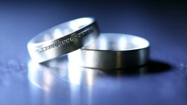 Wedding Rings — Video Stock