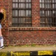 Teenage couple kissing — Stock Video