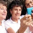 Senior women with smartphone — Stock Video #45451655