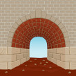 Light At The End Of The Tunnel — Stock Vector