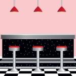 Постер, плакат: Retro Diner 1950s Style