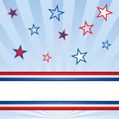 American Patriotic Stars and Stripes Background — Stock Vector