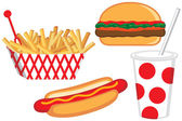 Fast Food Collection — Stock Vector