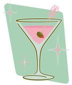 Martini retro — Vector de stock