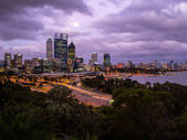 Perth City Skyline at Dusk — Stock Photo