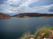 Lake Argyle dam in the Kimberley Region of Western Australia — Stock Photo