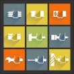 Repair. Flat icons set 2 — Stock Vector