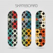 Skateboard set. Energy — Stock vektor