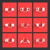 Foodstuff icons set — Stock Vector