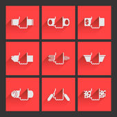 Foodstuffs. Flat icons set 2 — Vector de stock