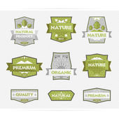 Labels Natural Product — Stock Vector