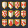 ������, ������: Set of shields red 2