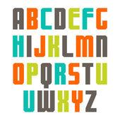Varicolored sans serif font — Stock Vector