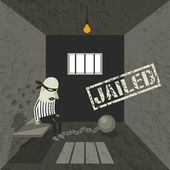 Arrested and jailed — Stock Vector