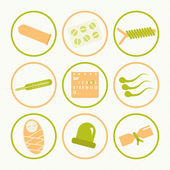 Icons methods of contraception — Stock Vector