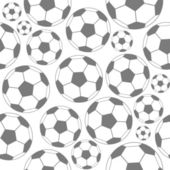 Black and white soccer seamless pattern — Stock Vector