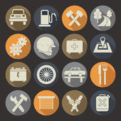 Auto service icons set. Colors plate — Stock Vector
