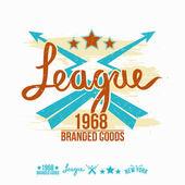 League Emblem Mädchens Druck und design-Elemente — Stockvektor