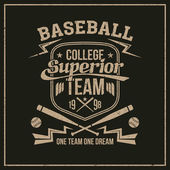 College baseball team emblem — Stock Vector