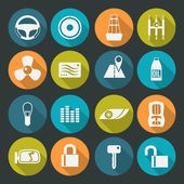 Auto accessories icons set. Colors plate — Stock Vector