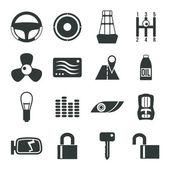Auto accessories icons set — Stock Vector