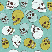 Seamless skulls pattern — Stock Vector