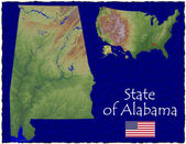 Alabama, USA hi res aerial view — Foto de Stock