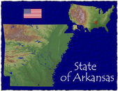 Arkansas, USA hi res aerial view — Foto de Stock
