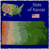 Kansas, USA hi res aerial view — Stockfoto
