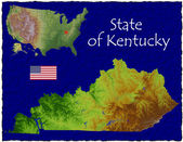 Kentucky, USA hi res aerial view — Foto de Stock