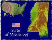 Mississippi, USA hi res aerial view — Stockfoto