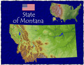 Montana, USA hi res aerial view — Stockfoto