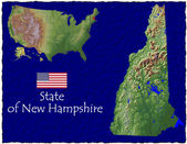 New Hampshire, USA hi res aerial view — Stockfoto