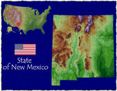 New Mexico, USA hi res aerial view — Foto de Stock
