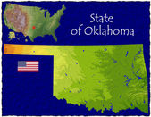 Oklahoma, USA hi res aerial view — Stockfoto
