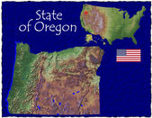 Oregon, USA hi res aerial view — Stockfoto