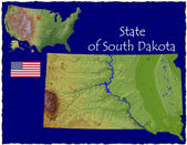 South Dakota, USA hi res aerial view — Foto de Stock