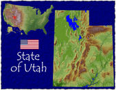 Utah, USA hi res aerial view — Foto de Stock
