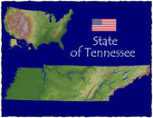 Tennessee, USA hi res aerial view — Foto de Stock