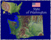 Washington, USA hi res aerial view — Stockfoto