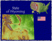 State of Wyoming, USA, hi res aerial view — Stockfoto