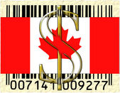 Canada currency and flag — Stock Photo